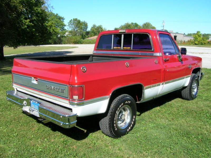 1986 K10 Chevy Short Bed Swb Pu Red White Chevrolet 86