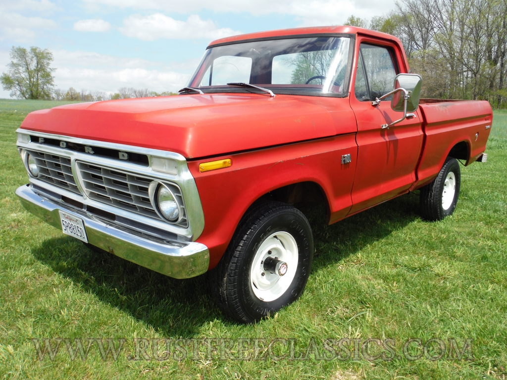 1973 f100 1 2 ton bed 4x4 regular cab survivor 73 shortbed