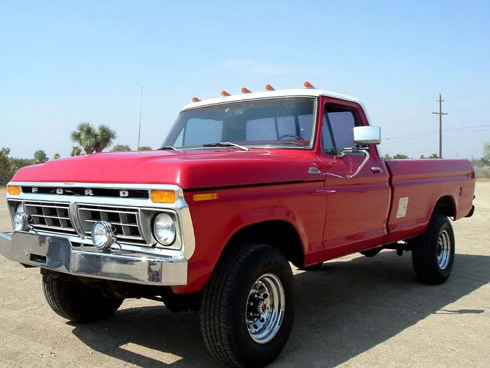 1977 f250 highboy red and white 460 4speed