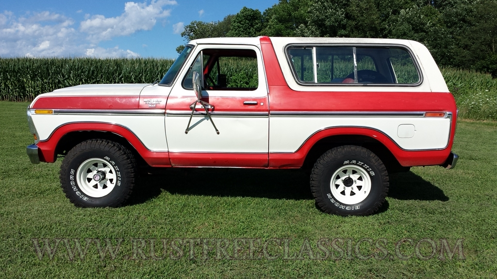 1978 Bronco Ranger XLT 4x4 351 automatic 78 Red White