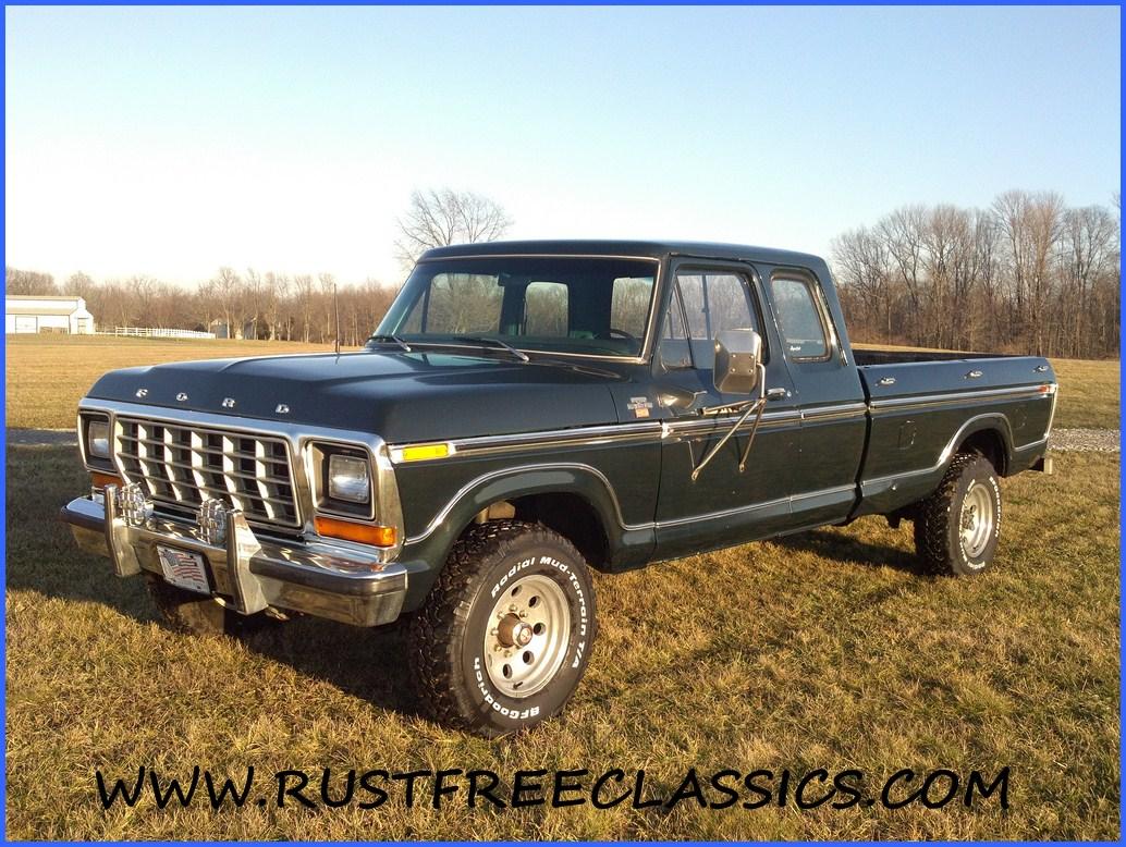 1978 F250 4x4 super cab Ranger XLT Green rebuilt 400 at